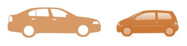 coche pequeño vs coche grande