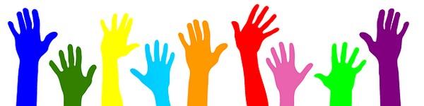 manos alzadas