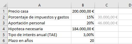 Cuota hipoteca Excel 1